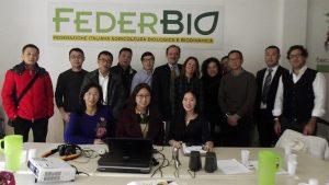 La delegazione cinese alla comclusione del workshop